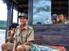 Laos, Boat drivers on the Mekong